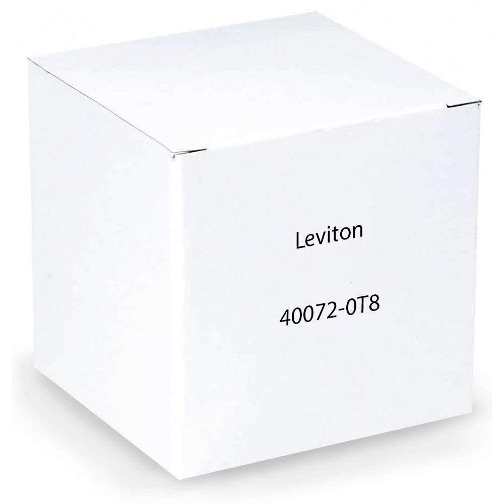 Leviton 40072-T8 8-Position Modular Adapter, T568B Wiring, Converts Eight Contacts Into An 8-Position, 8-Conductor Non-Keyed Modular Jack, (Tap -8)