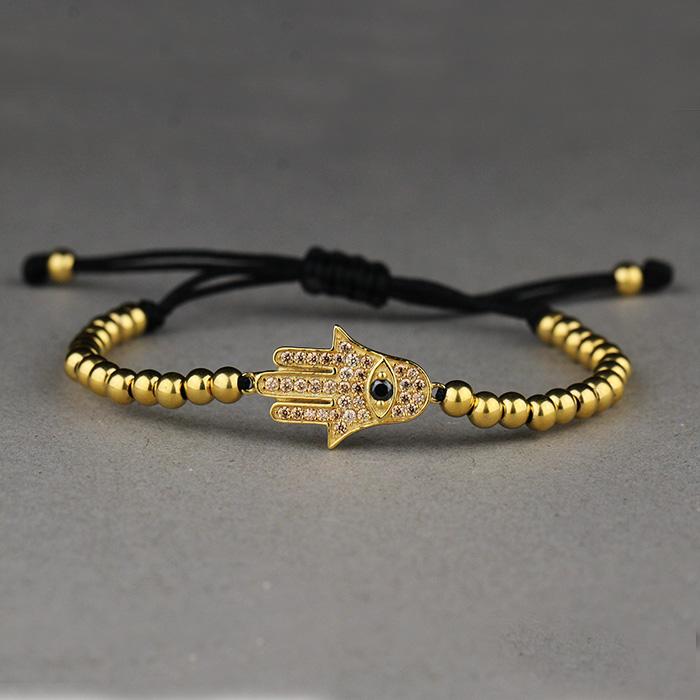 Hommes Naturel Pierres Précieuses Perles Couronne Bracelets