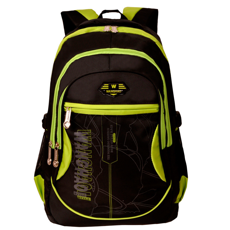 Wang Hao genuine middle school students schoolbag schoolbag 3--6-grade boys and girls backpack computer bag