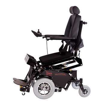 power lift up seat standing electric wheelchair with dinner plate
