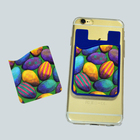 mobile phone case cell phone pocket silicon wallet atm card holder