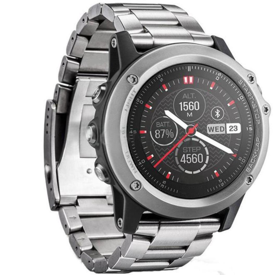 For Garmin Fenix 3 / HR Watch Band Accessories,Elevin(TM) 2016 Metal Stainless Steel Watch Band Strap for Garmin Fenix 3 / HR (Sliver)
