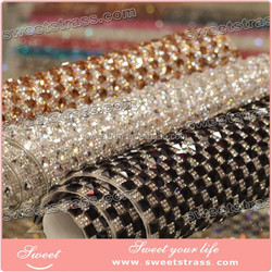 fashion hotfix square crystal rhinestone net mesh for lady's Bling Shoes