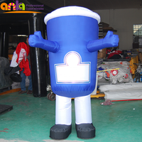 Best quality coffee shop display mascot / inflatable walking cartoon cup