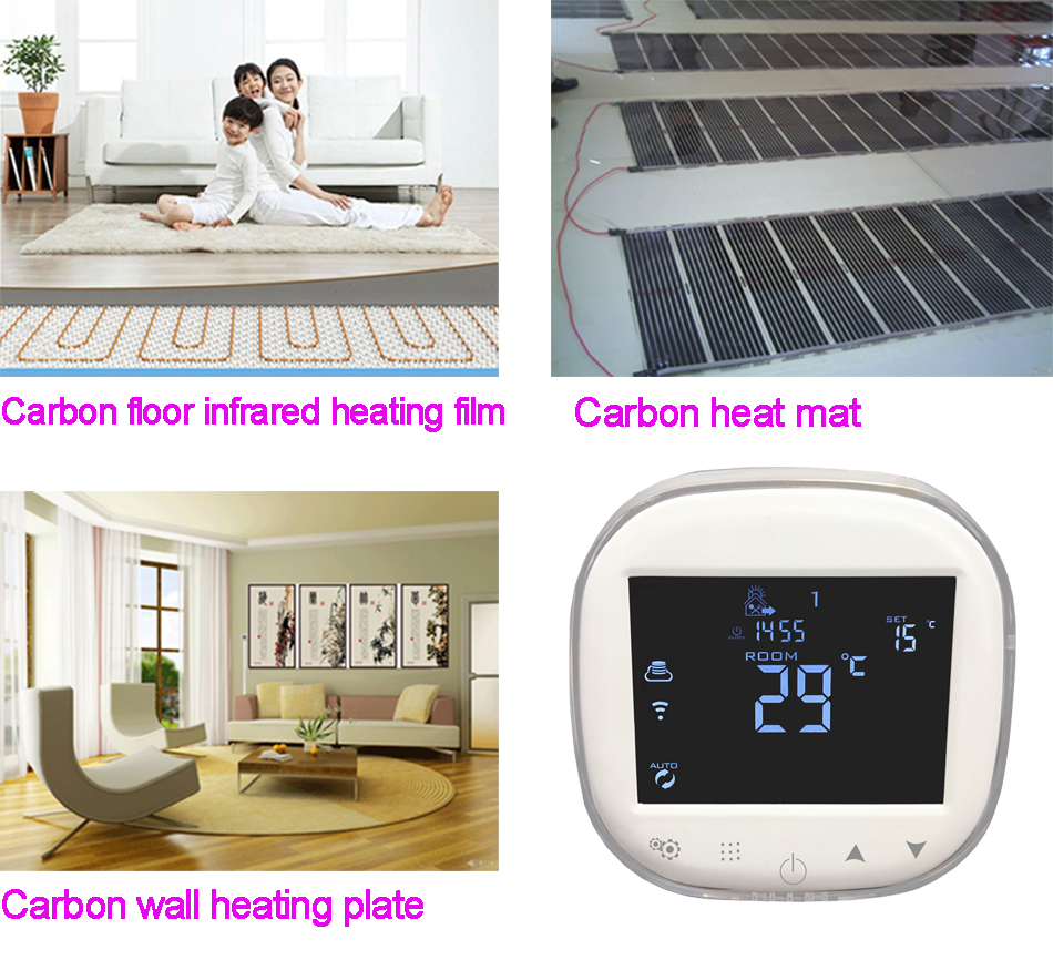 Electric Panel Heater thermostat 24 Hour Timer - Digital Thermostat Wall Mounted Efficient Energy Saving Electric Heaters