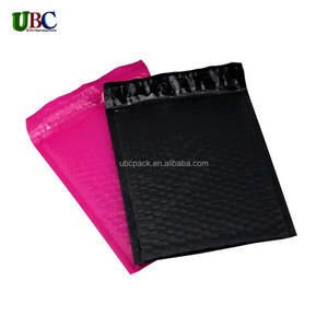 black padded bubble mailer ,customized printed poly bag