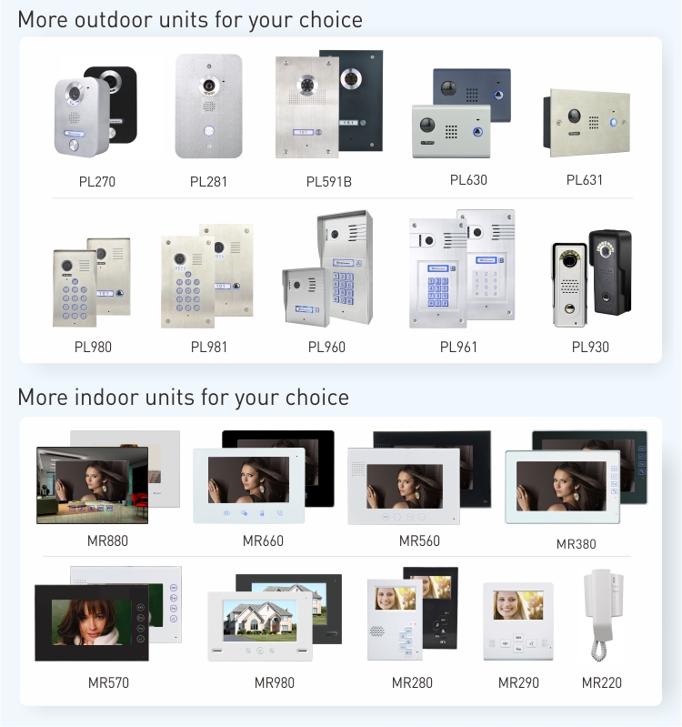keypad 7 inch handsfree video door phone for villa intercom system for twoway voice entry phone interphone de maison