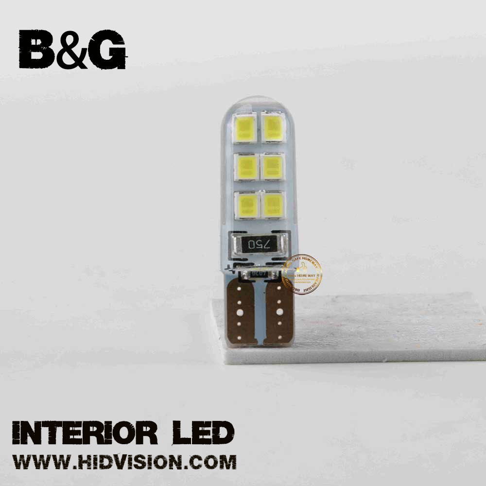 T10 led automotive bulb T10 W5W Waterproof 2835 12 SMD Wedge License Plate side turn signal light