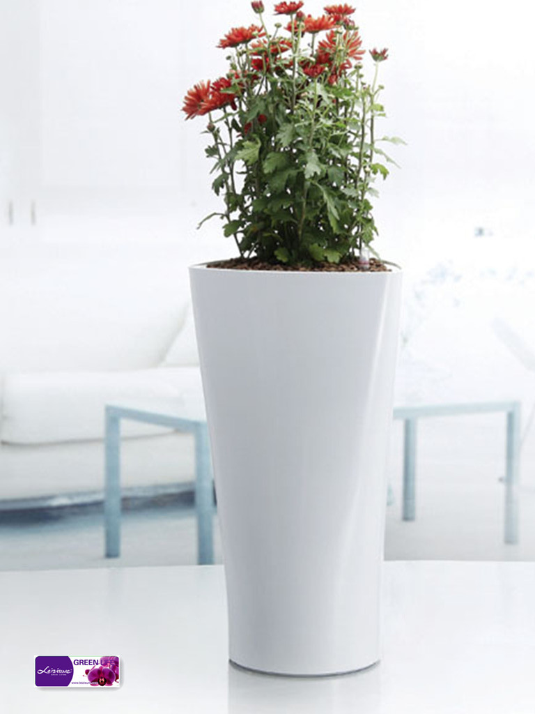 blanc triangle pot de fleur pot de fleur en plastique plantes d 39 int rieur moderne vases pots. Black Bedroom Furniture Sets. Home Design Ideas