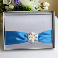 2016 Ideal Products Elegant European Style Wedding Invitation Box Silk
