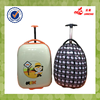 Hot Sale White Color Match Color Cartoon Kids School Bag Waterproof ABS+PC Egg Luggage Trolley Case