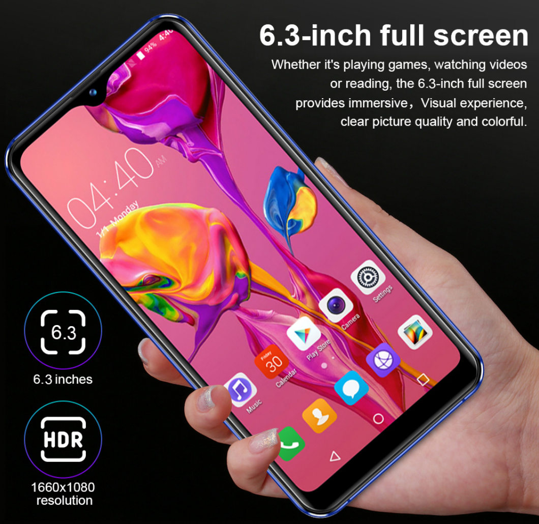 2019 hot portátil telefone android China telefone inteligente P30 pro com impressão digital