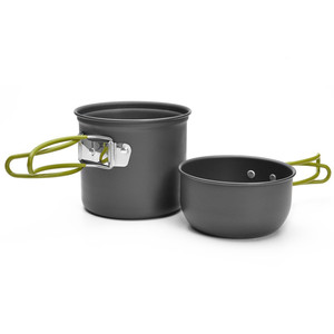 Lightweight Aluminium Alloy camping cookware camping compact cookware for 1-2 people
