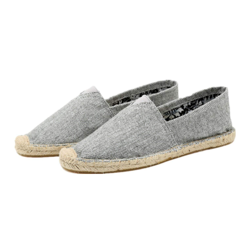 Nutsima Mens Shoes Spring Espadrilles Men Canvas Shoes Men Breathable Men's Loafers Slip On Solid Black White