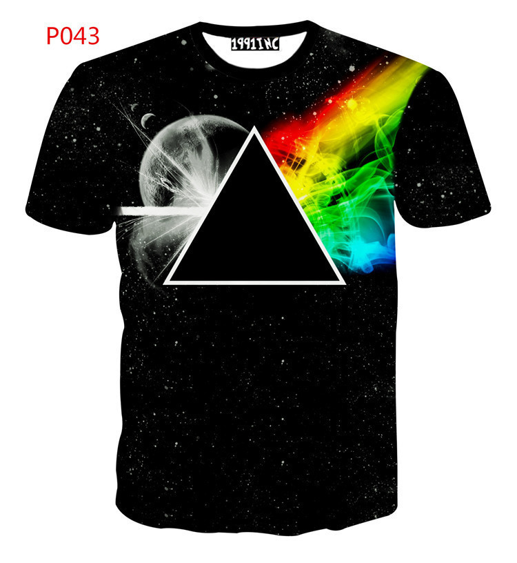 fe7be21a Get Quotations · Pink Floyd t Shirt 3D Men Trend Youth Rock Music Band t- Shirts High Quality