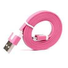 Ultra thin Micro braided micro flat usb cable for Samsung 3.5mm male aux audio plug jack to flat usb 2.0 female flat usb cable
