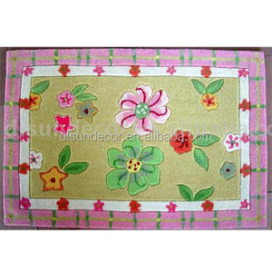 polyester handmade kids design 100% cotton carpet rug