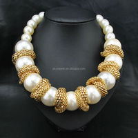 Hot selling big pearl necklace, chunky necklace jewelry