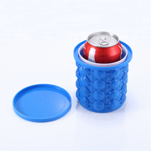 Saving Space 2in1 Ice Cube Silicone Molds Ice Bucket Ice Cube Maker Genie