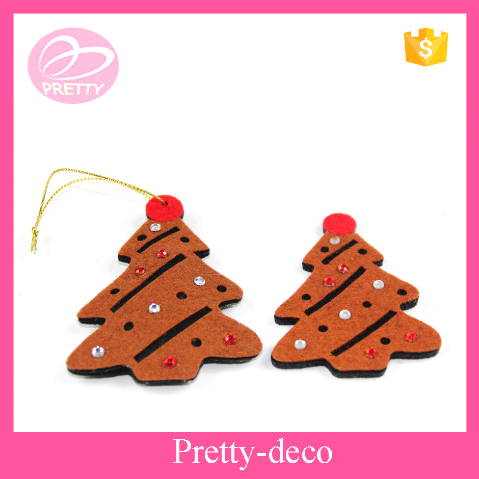 Promotion Christmas tree shape decoration, Christmas felt products, Christmas tree pendant