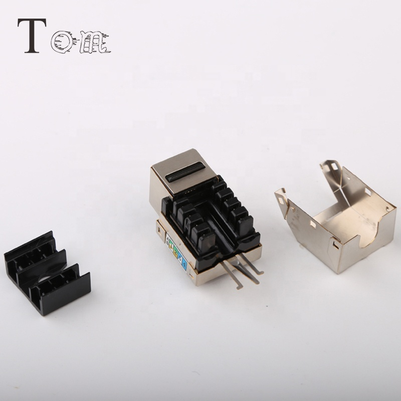TOM MK-N-13 rj45 network data module FTP UTP 90degree 180degree cat6 cat5e ethernet keystone jack