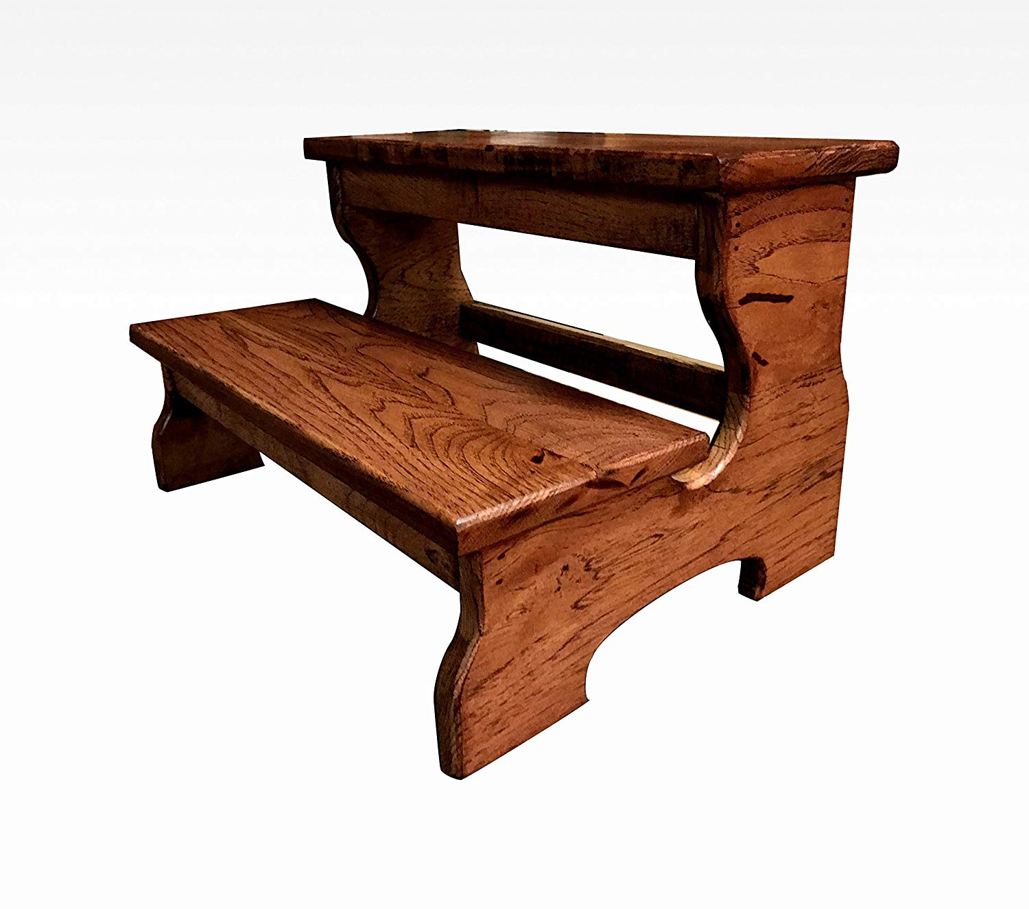 Get Quotations Two Step Stool 20 In Espresso By Cw Furniture Rustic Wood Wooden