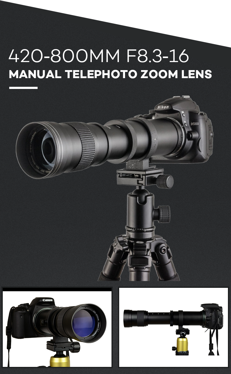 Customized 420-800Mm F/8.3 Medium Telephoto Manual Focus Lens Eos Digital Slr Cameras