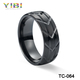 2018 Hot Sale Jewelry Brushed Black Tungsten Ring