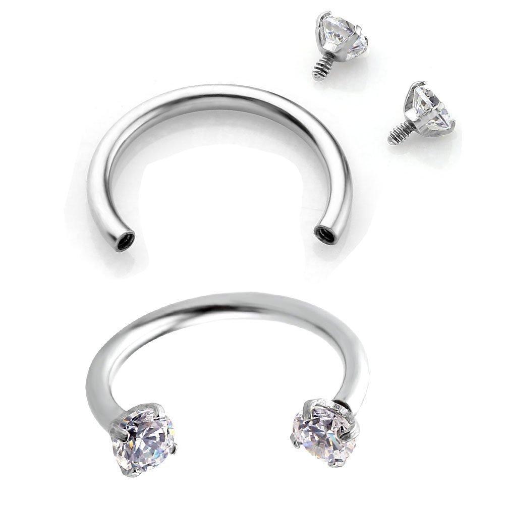 Buy Womens Body Jewelry Cute Cubic Zirconia Stainless Steel Hoop