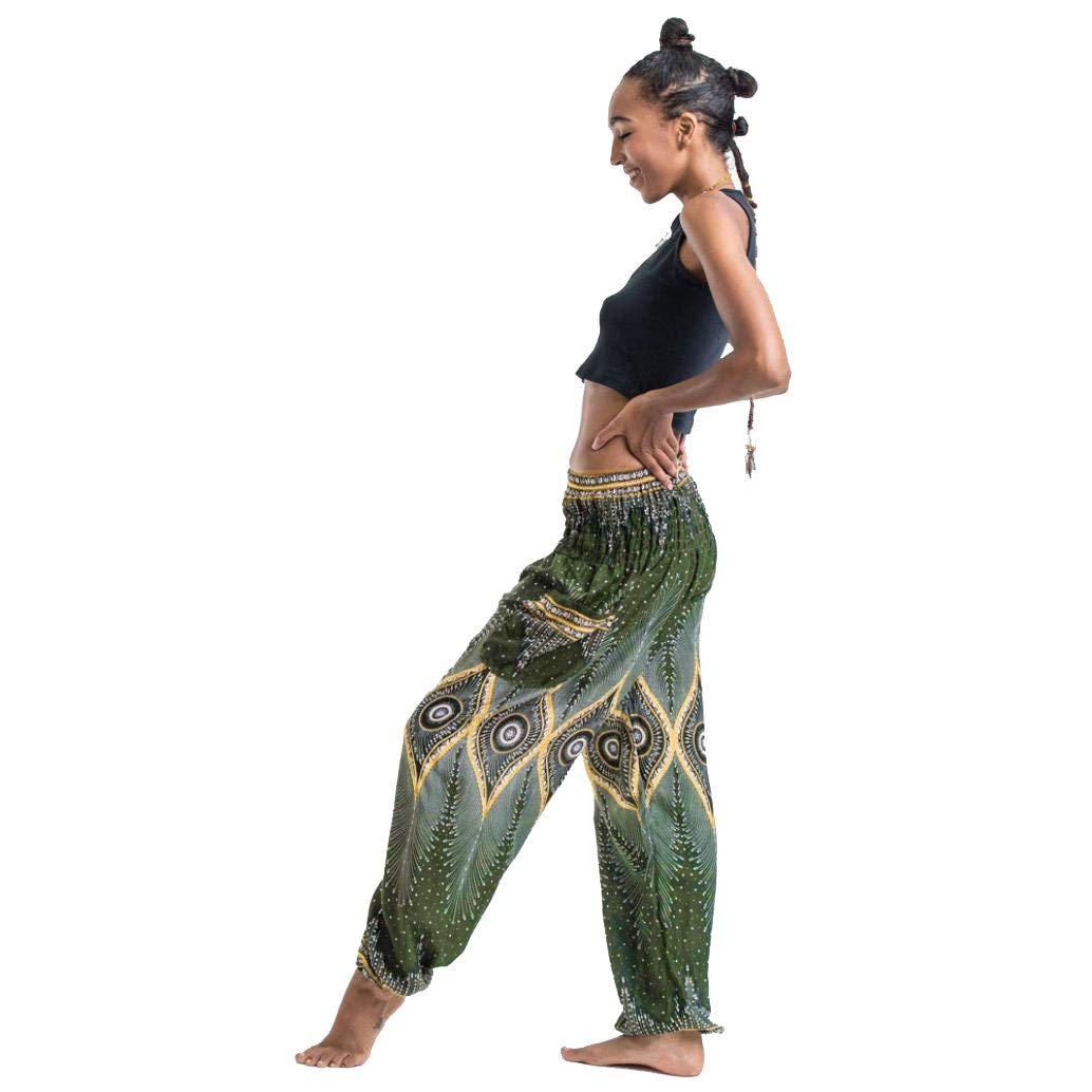 8986c34d47 Get Quotations · RAISINGTOP Men Women Harem Trousers Boho Palazzo Pants  Liturgical Vintage Hippy Smock High Waist Yoga Pants