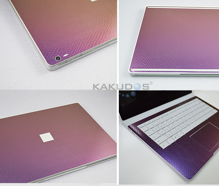 Removable full body laptop brushed silver skin for surface pro 4