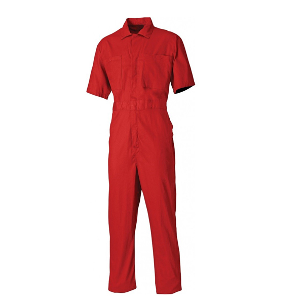 100% cotton twill short sleeve coveralls