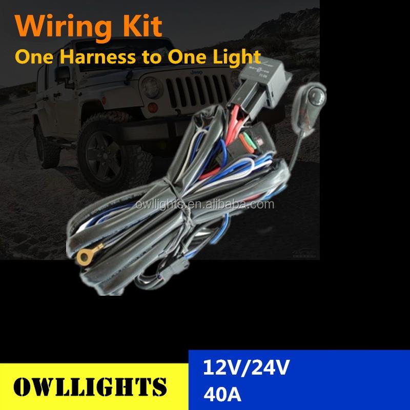 Wiring Kit Led Hid Spot Work Driving Light Bar Loom