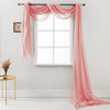 Simple and fancy scarf curtain with matching window curtain