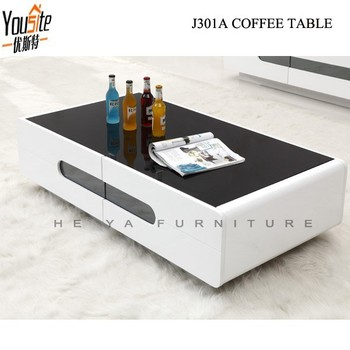 Ergonomics Gl Top High Gloss Coffee Table Ottoman