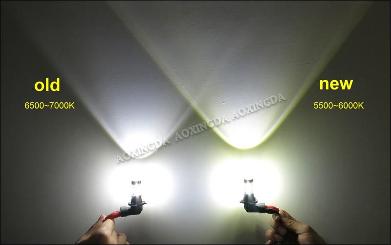 Xenon White 80w 9005 Hb3 9006 Hb4 Led Fog Light Bulb For Car ...