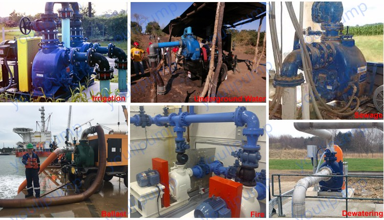 High suction lift electric agriculture irrigation water centrifugal pump