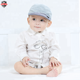 Guangzhou factory wholesale flip up brim hats striped baby caps