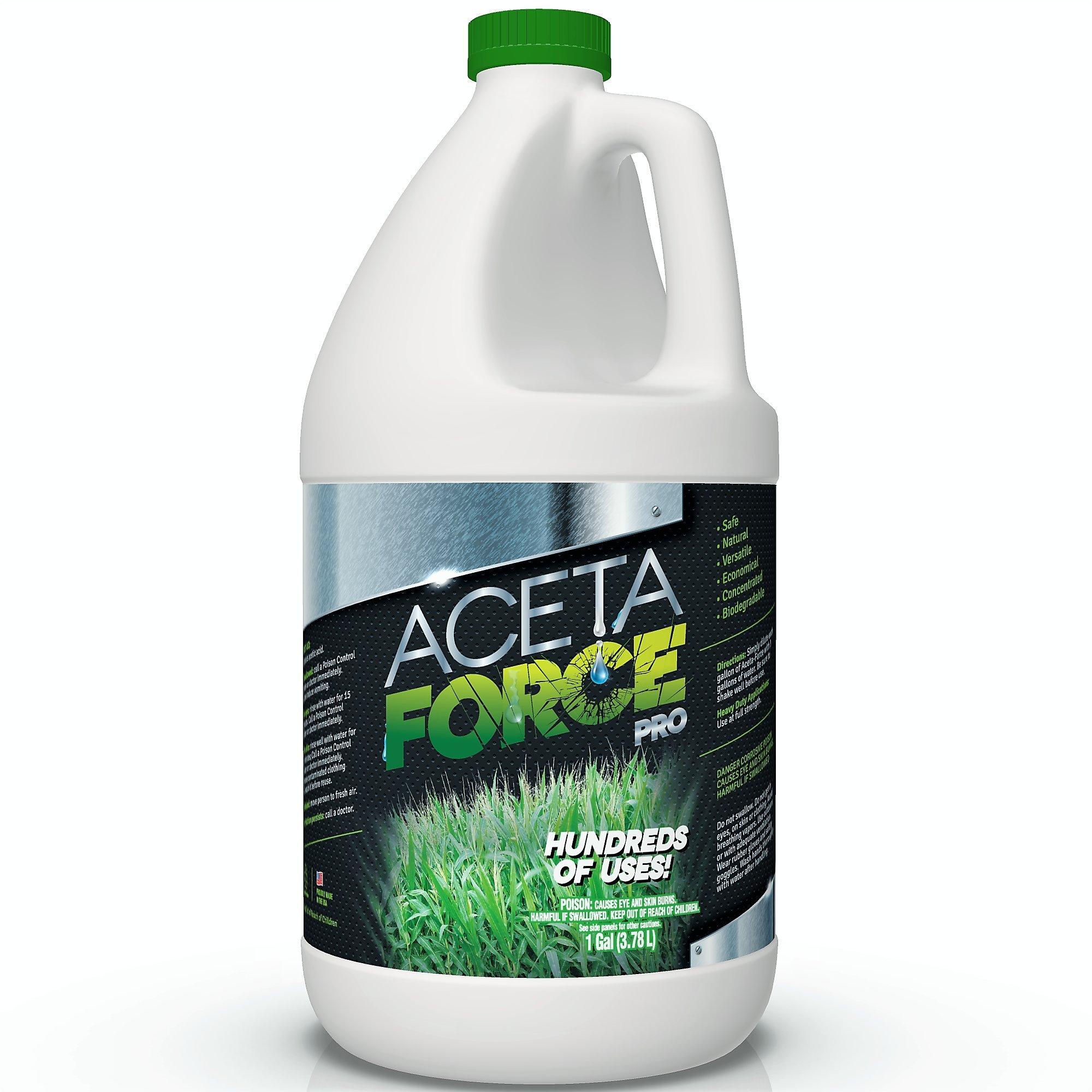 ACETA FORCE Industrial Strength 30% Natural Acetic Acid VINEGAR Multi Purpose For Home & Garden - 1 Gallon (4 x 1 Gallon Case)