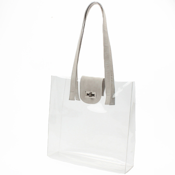 Clear Pvc Tote Bags Ping Bag Security Work Shoulder Womens Handbag
