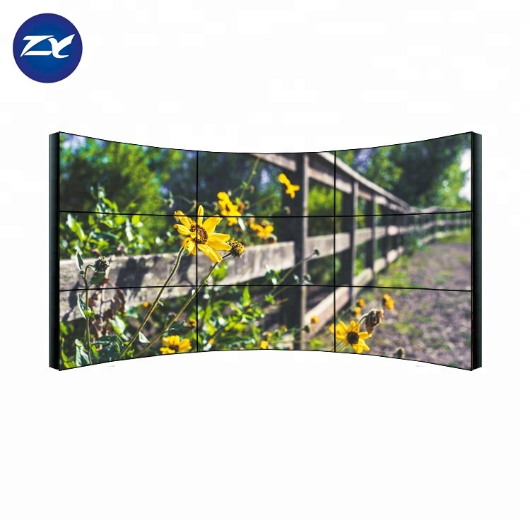 3x3 Ultra Smalle Bezel Gebogen Full Hd Lcd Display 4 k Monitor Video Wall