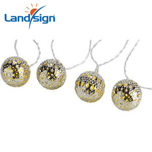 Warm white 10 balls/set Moroccan LED solar string lights LED fairy lights outdoor Christmas decoration LED lamp solar power