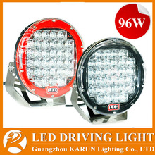 Diecast 96W LED Round LED 96w 4X4 Spot Lights /4X4 Working Lights /96W LED 4X4 Auto Lights