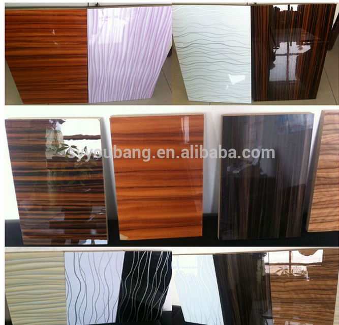 Manufacturer 18mm High Gloss Wood Grain Acrylic Mdf Sheet