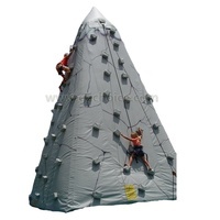 Customized size, shape Commercial inflatable sport game rock climbing inflatable climbing wall