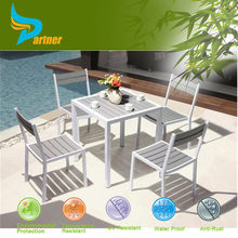 Philippine Restaurant Used White Color Sets Bamboo Cane Furniture