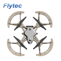 Flytec 2.4G Mini Wooden DIY RC Quadcopter Drone Toy With Print Color For Kids DIY Print Designing