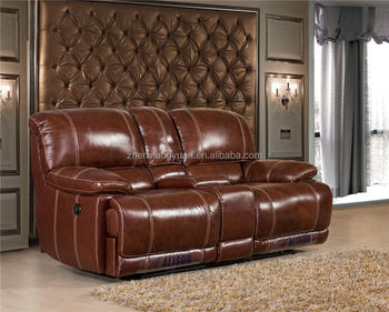 Home Theater Furniture Genuine Leather Reclining Console Loveseat Sf3671 -  Buy Recliner Sofa,Genuine Leather Reclining Loveseat Sofa,Cheap Sofa ...
