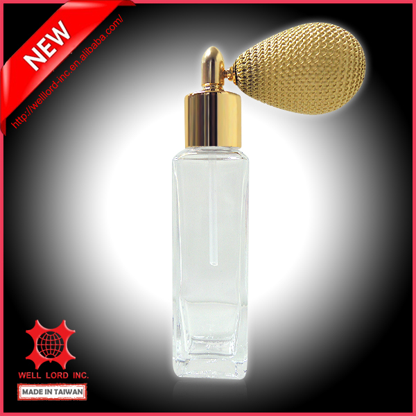 Wholesale gold cap simple decorated contemporary eco lifestyle thin perfume glass bottle