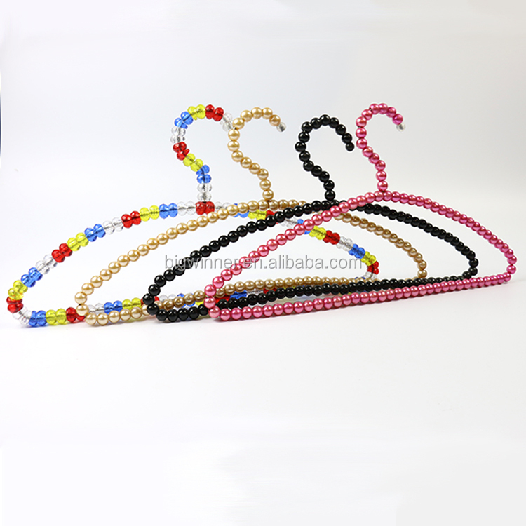 Crystal Acrylic Beads Hanger colorful pearl hanger for Dress and Skirt